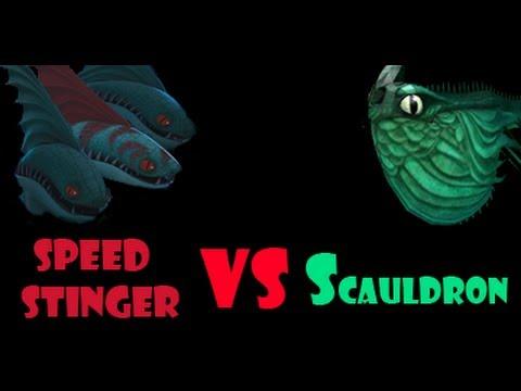 Spore: Speed Stinger Pack vs Scauldron - YouTube