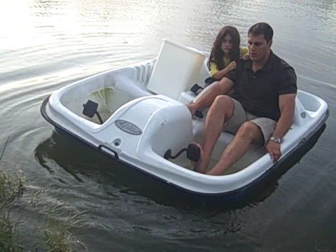 Mia 39 s first pedal boat adventure youtube for Fishing license for disabled person