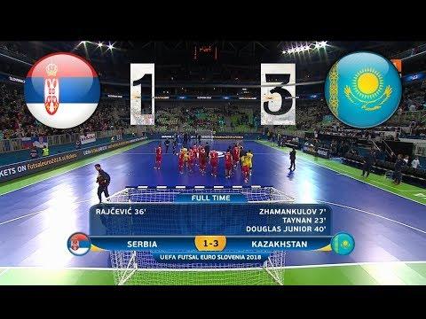 Сербия - Казахстан. Futsal. 1/4 Финала EURO. Highlight in HD