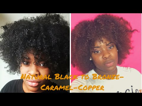 How To  Dye Natural Hair Without Bleach   Creme Of Nature Hair Color Demo/Review