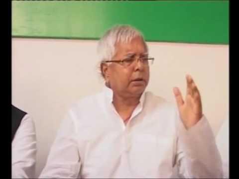 Lalu Prasad Yadav Hoists National Flag and commenting on Narendra Modi
