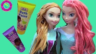 """Đồ Chơi Nhuộm Tóc  Công Chúa """"Bác Sĩ Thú Nhồi Bông"""" Doc Mic Stuffings Bath Paint Dye Hair Elsa Anna"""