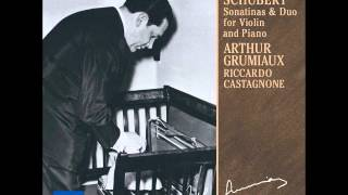 Schubert Grand Duo in A for Violin and Piano Grumiaux Castagnone