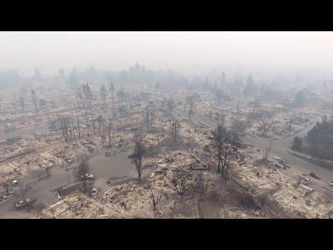 Aftermath of Fire in Santa Rosa, California || ViralHog