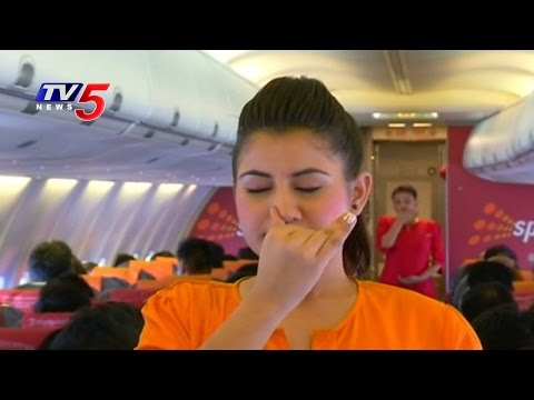 Yoga Performed in Mid-Air on SpiceJet Flight | International Yoga Day 2016 | TV5 News