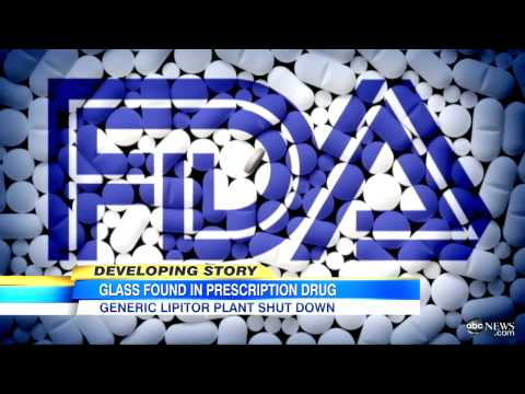 Generic Lipitor Alternative Contain Glass Particles, Ranbaxy Plant Closed After FDA Investigation