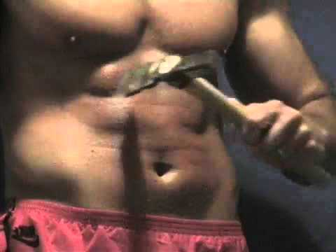 Ripped abs  Hammer gut punching and nettles whippings