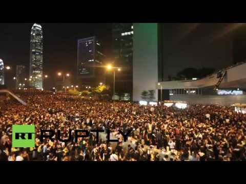 Hong Kong: 'It's my home!' Thousands continue to clog central HK