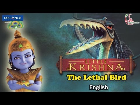Little Krishna English Episode 9 assault Of The Lethal Bird Animation Series video