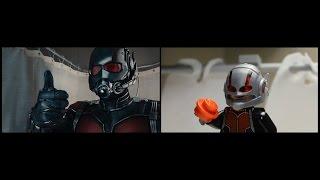 Ant-Man Lego Trailer Side-by-side Comparison