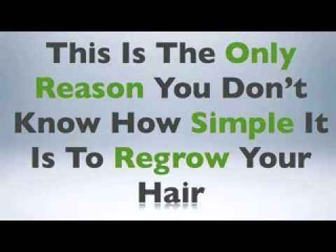 Baldness Cure + How To Stop Hair Loss and Regrow Tthe Natural Way