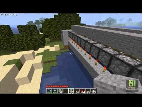 #Minecraft 1.8 - DrawBridge with pistons!