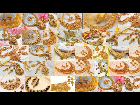 TOP 50 Gold Necklace Design with diamond | Sone ka set | Gold Set design with price and weights | Je
