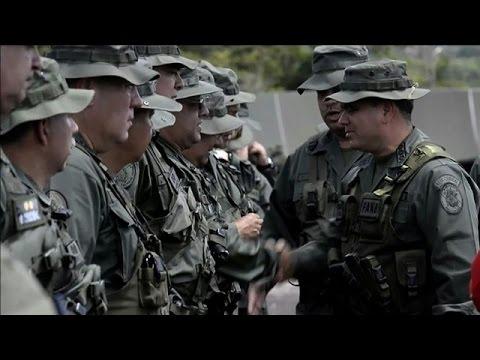 Venezuelan Army holds military parade near border with Guyana