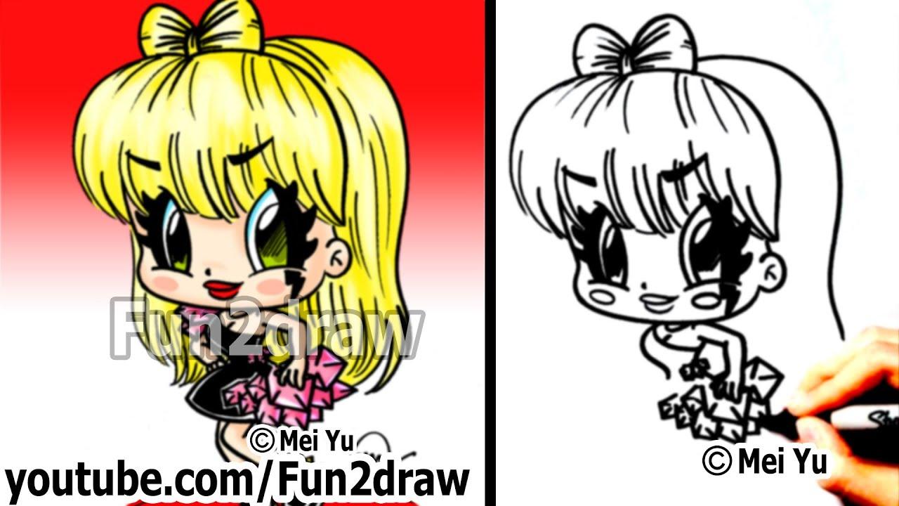 how to draw a cartoon lady
