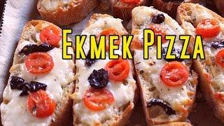 EKMEK PIZZA - PEYNİRLİ DOMATESLİ EKMEKLER hızlı tarifler- pratik yemek tarifleri CANANDAN TARİFLER
