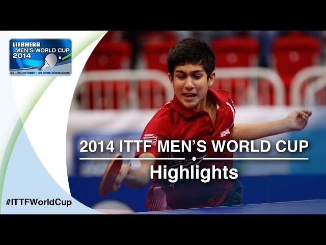2014 Men's World Cup Highlights: CHEN Chien-An TPE vs JHA Kanak (Qual Groups)