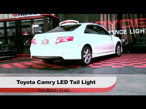 spyder auto installation 2007 09 toyota camry led tail lights youtube. Black Bedroom Furniture Sets. Home Design Ideas
