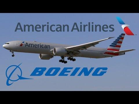 HD American Airlines Boeing 777-323ER N718AN Landing at Los Angeles International Airport
