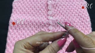 Knitting Baby Sweater Design no #168 ( बहुत ही आसान डिज़ाइन ) || Sweater Patterns video ||