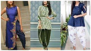 New Dhoti Salwar suits Designs |College Wear Dhoti Salwar Suit Designs|Frock kurti With Dhoti 2018