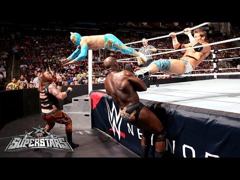 Zack Ryder & Sin Cara Vs. Heath Slater & Titus O'neil: Wwe Superstars, July 31, 2014 video