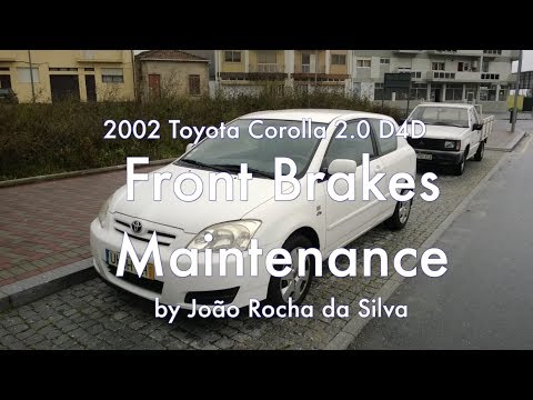 Toyota Corolla 2.0 D4D : Replacing Brake Pads and Rotors on the