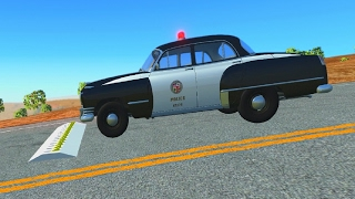 Spike Strip Testing 14 - BeamNG.Drive Car Accident