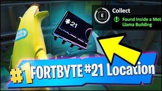 FORTBYTE 21 Location - FOUND INSIDE A METAL LLAMA BUILDING (Fortnite)