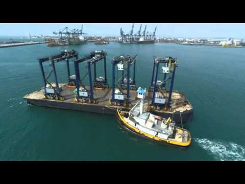 Smith Maritime Transport of 4 RTG Cranes from Panama to Altamira, Mexico July 2015