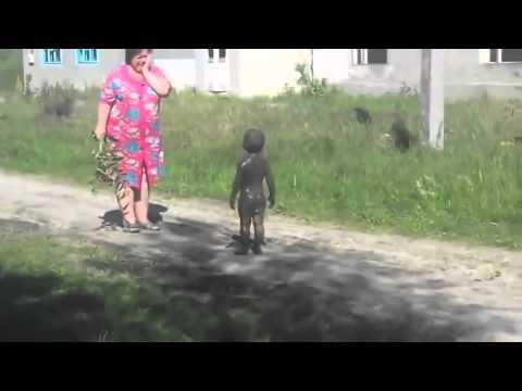 Первый контакт с пришельцами в деревне  Уникальные редкие кадры авто гаишник животные приколы жирино