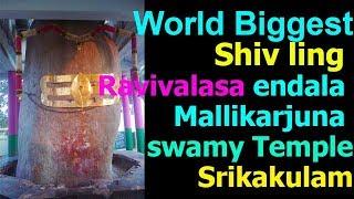 endala mallikarjuna swamy temple ravivalasa in telugu | tekkali, Srikakulam |world biggest shiv ling