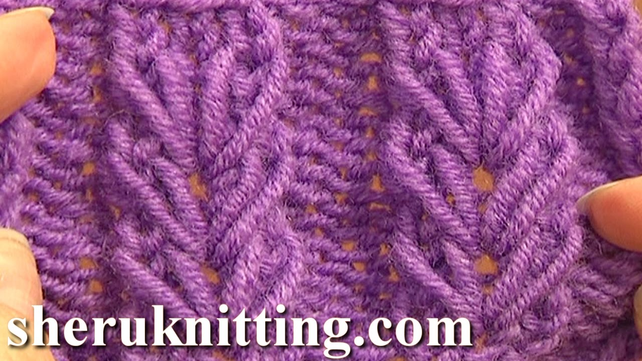 Pattern Design For Knitting : Wheat Ear Loop Stitch Pattern Tutorial 6 Free Knitting Stitch Patterns For Be...