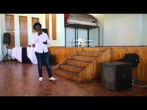Eric Moyo performs at the Scripture Union Concert