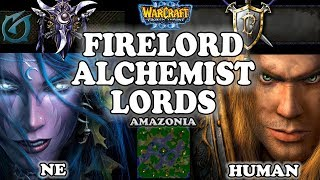 Grubby | Warcraft 3 TFT | 1.29 | NE v HU on Amazonia - Firelord Alchemist Lords