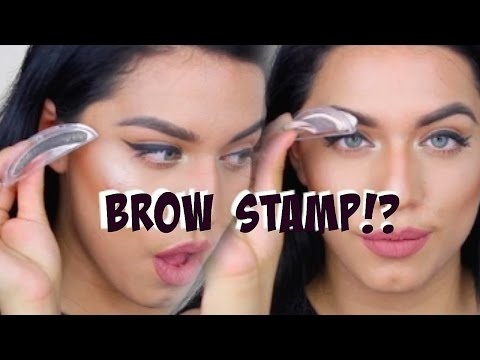 STAMP ON EYEBROWS!!! 1 SECOND BROWS!?