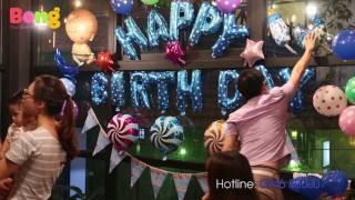 Hướng dẫn trang trí bóng sinh nhật cho bé - bạn bè