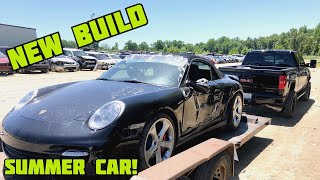bought wrecked porsche 911 turbo at an auction! Copart?