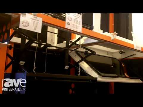 Integrate 2016: Screen Technics Demos Its Projector Lift and Panel Lift Range of Products