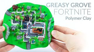 Greasy Grove (Fortnite Battle Royale) – Polymer Clay Tutorial