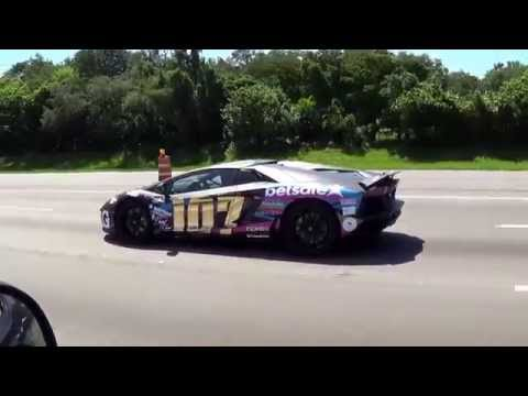 Chasing Lamborghini Aventador VS Ferrari F12 VS Ferrari 458 Supercars on Highway  Gumball 3000