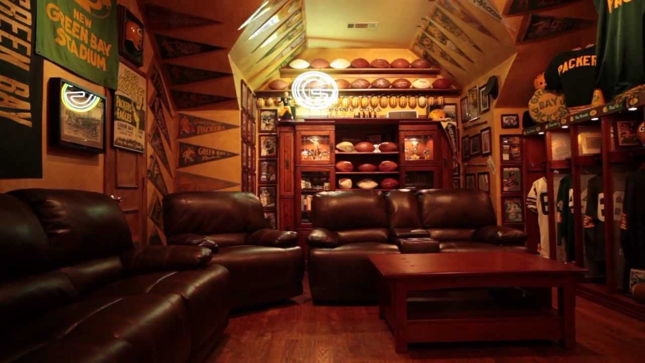The Ultimate Green Bay Packers Fan Cave Youtube