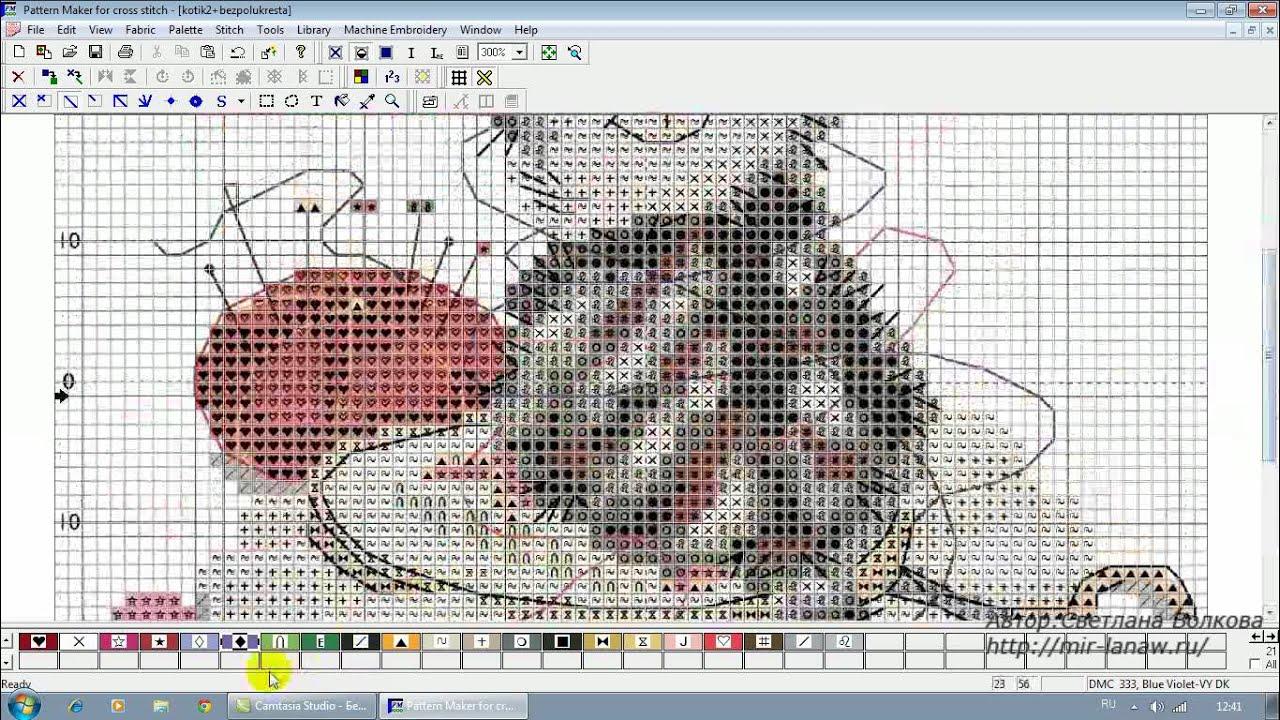Перенабор схем вышивки крестом из pdf