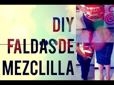 DIY Faldas de mezclilla / Recicla tus Jeans  #YaEsPrimavera