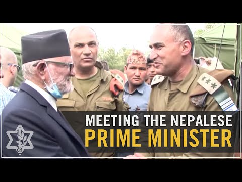 IDF Humanitarian Mission Commander Meets with Nepalese Prime Minister