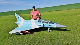 1/6 SCALE RC FEI BAO DASSAULT MIRAGE 2000 - JETSMUNT 200 TURBINE DISPLAY - ANDY - 2018
