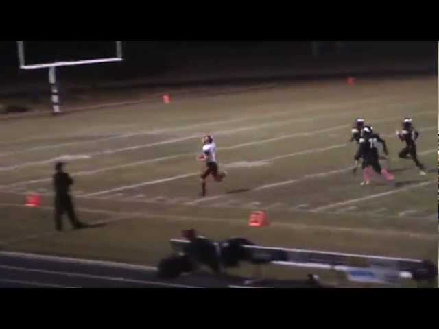 10-12-12 - It's a 70 yard touchdown run for Kyle Rosenbrock (Valley 7, Brush 6)