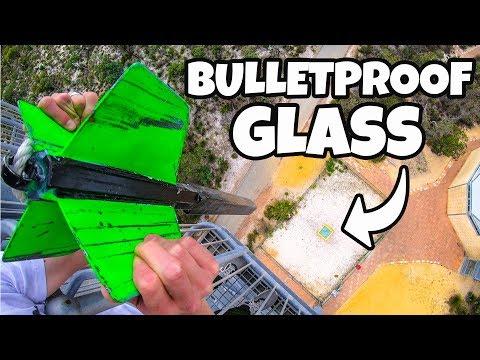 GIANT DART Vs. BULLETPROOF GLASS from 45m!