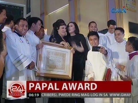 24 Oras: Ai Ai Delas Alas, ginawaran ng Papal award para sa serbisyo sa simbahan