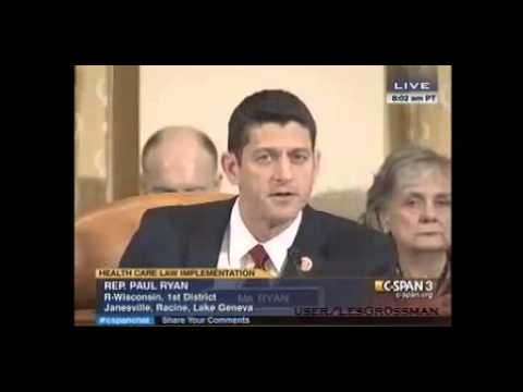 Paul Ryan Danny Werfel HEATED Exchange At Affordable Care Act Hearing 8/1/13